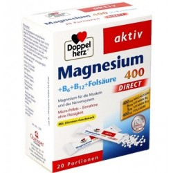 Doppelherz Magnesium 400 + B6 + B12 + Folic acid Direct