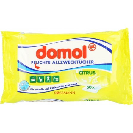 Domol Universal Wet Wipes: Lemon