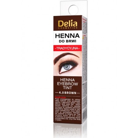 Delia Cosmetics Eyebrow Tint Henna 4.0 Brown