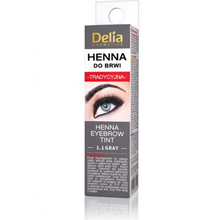 Delia Cosmetics Eyebrow Tint Henna 1.1 Gray
