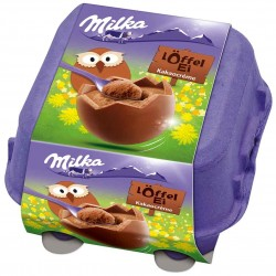 Milka Eggs: chocolate mousse
