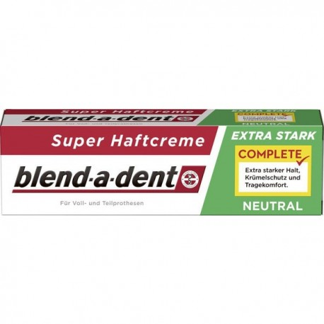 Blend a dent adhesive denture cream-Extra Strong Neutral-47g