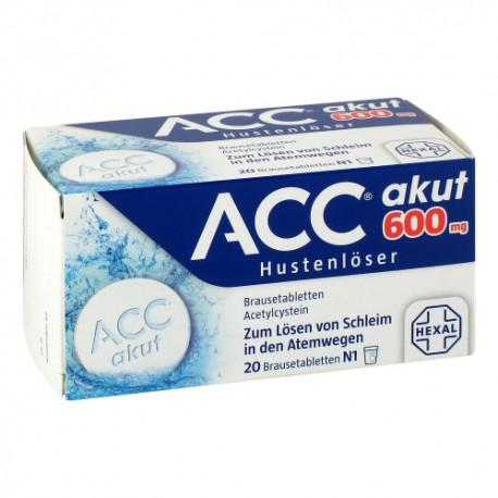 A-C-C mucus dissolving effervescent tablets 20pc