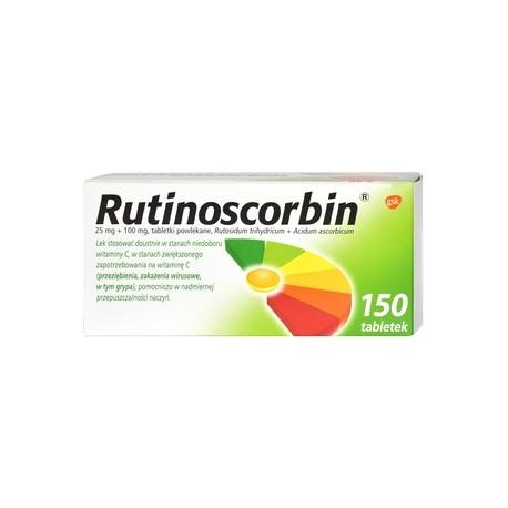 Rutinoscorbin Vit C pills 150pc.