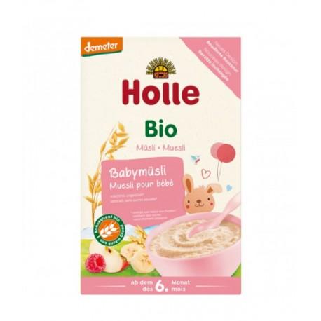 Holle Organic Baby Muesli Porridge with Raspberry Puree