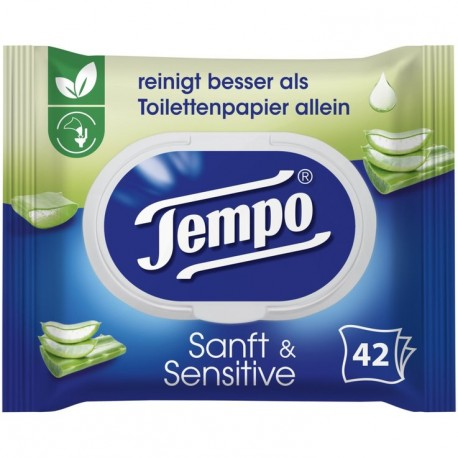 Tempo Aloe Vera wet wipes 42pc.